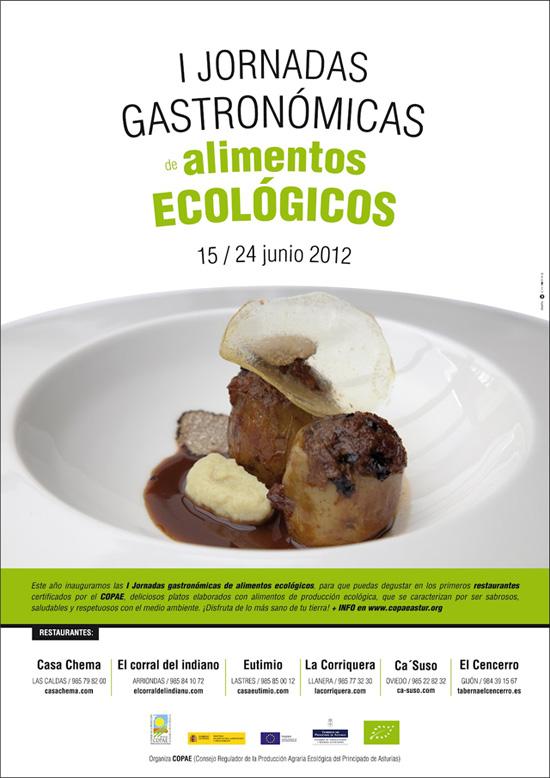 Cartel de las I Jornadas Gastronomicas de Productos Ecológicos